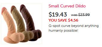 Small Curved Dildo