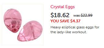 Crystal kegel Eggs