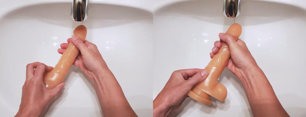 how to clean a dildo step 2
