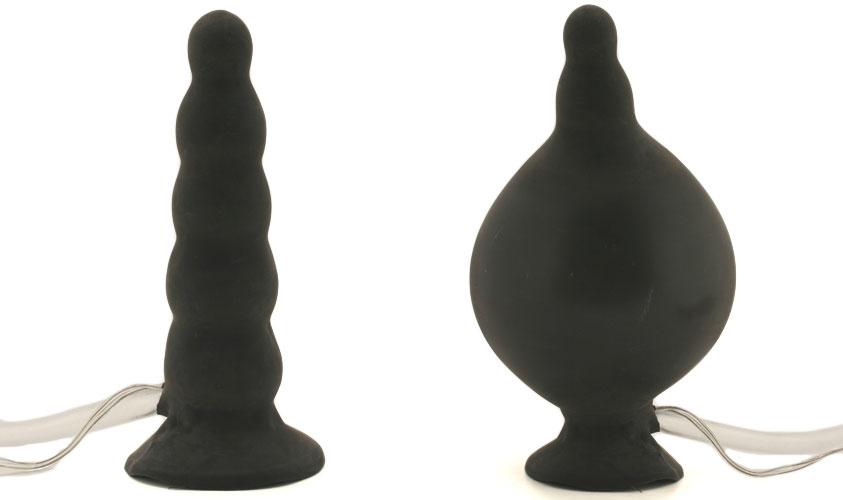 Inflated & deflated butt plug