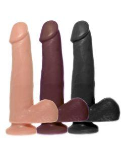 Basic soft rubber dildo