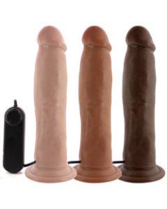 Throb Big Vibrating Harness Dildo