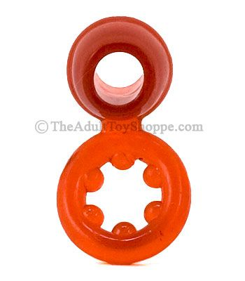 Silicone Dual Cock Rings - both parts