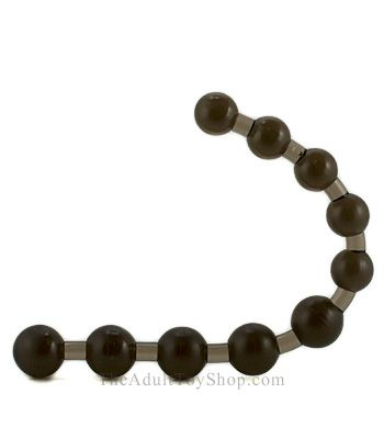 Thai Rubber Anal Beads bent