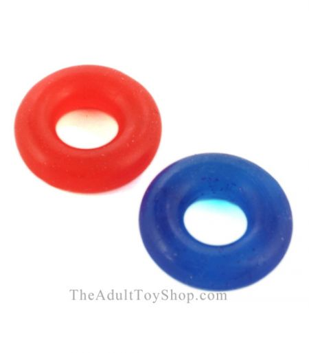 2 Pack Stretch Donut Cock Rings