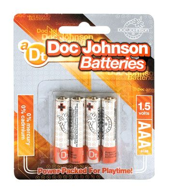 Doc Johnson Batteries AAA - 4 Pack