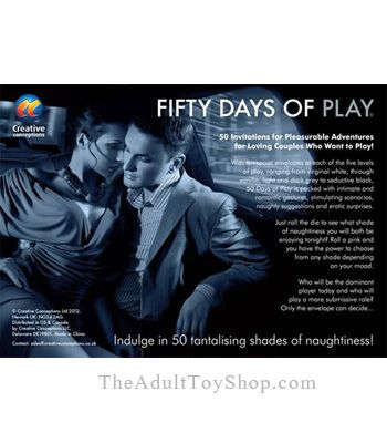 Fifty Days of Play Adult Game box