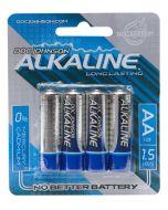 AA Alkaline Batteries - 4 Pack