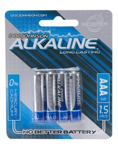 AAA Alkaline Batteries - 4 Pack