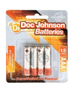 Doc Johnson Batteries AAA - 4 Pack